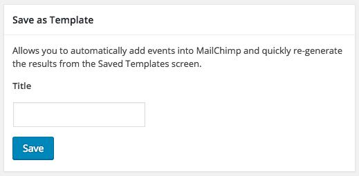Saving A Template Event Calendar Newsletter